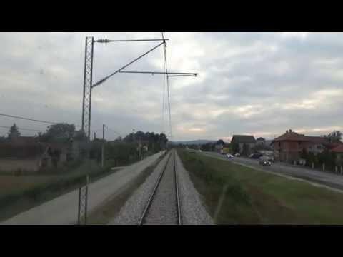 Train Driver's view: railroad in Serbia from Lajkovca - SERBIAN RAILWAYS