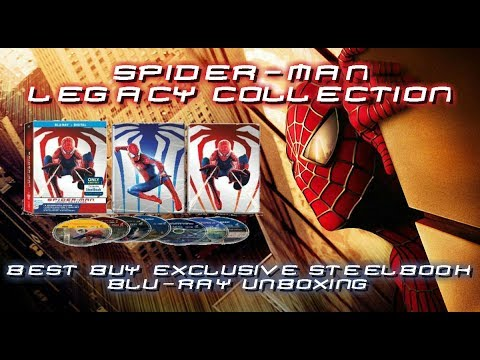SPIDER-MAN LEGACY COLLECTION - BEST BUY EXCLUSIVE STEELBOOK - BLURAY UNBOXING