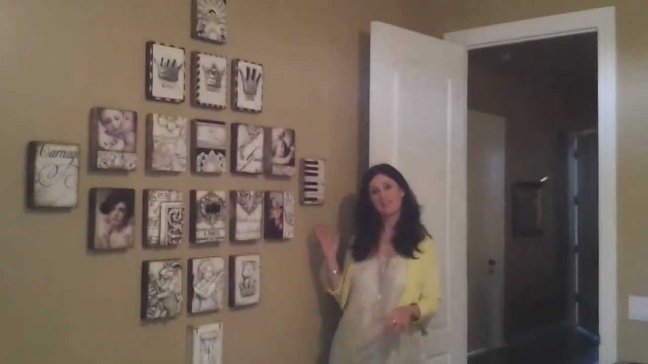 How To Hang Sid Dickens Tiles With Denise Milano Youtube