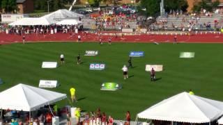 OHSAA State meet 300m hurdles final 2015