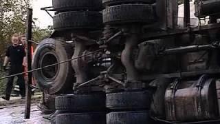 Бетономешалка перевернулась в Череповце