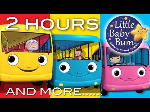 Wheels On The Bus | Part 2 Compilation! | 2+ Hours of Nurser