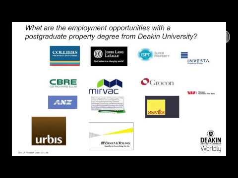 Deakin's postgraduate programs in Property (Webinar)