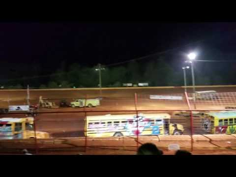 School bus races part 3 of 3 5/29/17 Flomaton Speedway