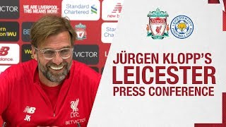Jürgen Klopp's pre-Leicester press conference | Injury updates on Van Dijk, Fabinho and more
