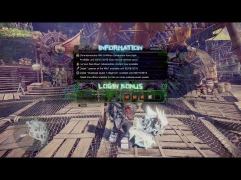 Monster hunter world : Farm last boss [Xeno'jiiva]