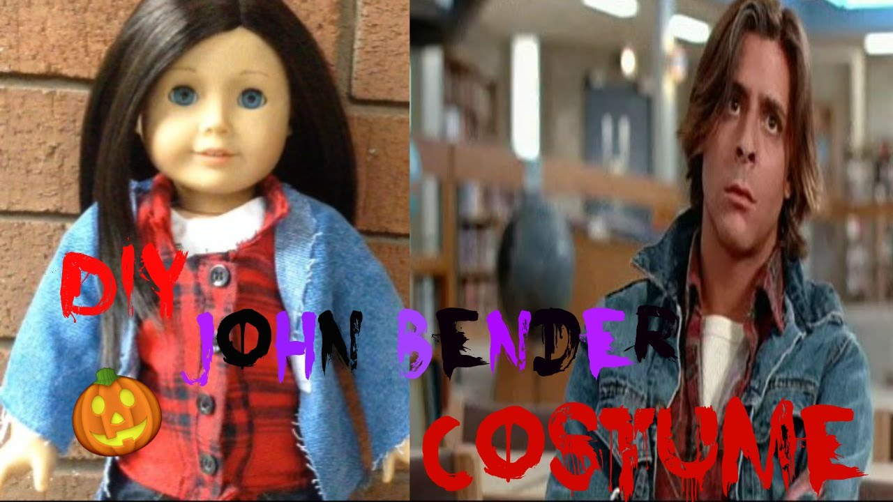 DIY American Girl Doll John Bender Halloween Costume - YouTube