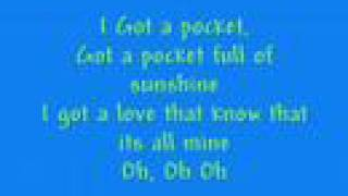 Pocket Full Of Sunshine Lyrics