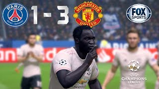Recreación PSG 1-3 Manchester United - UEFA Champions League 2019