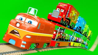 Trucks, Cars, Trains - McQueen Friends, Police Cars New Amazing Stories