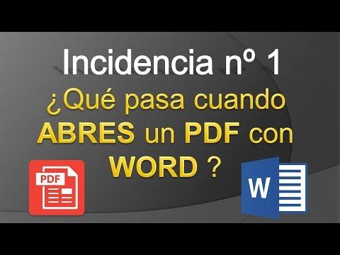 Video Incidencia nº1 - Lo que pasa cuando abres un PDF con WORD