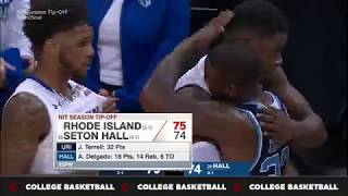 Rhode Island vs Seton Hall Basketball Nov. 23, 2017 Game Recap