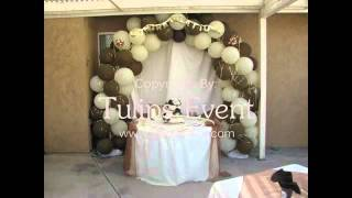Hire thematic birthday balloons Decorator balloons arch decor services in lahore pakistan.avi