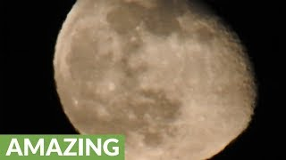 Insane optical zoom captures the moon up close