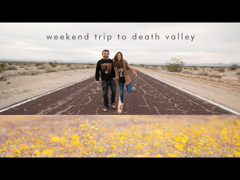 weekend camping trip in death valley: salt flats & super bloom!