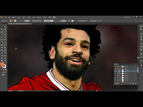 Muhammed Salah Vektör Çizim Dersi - 2 (Adobe Illustrator)