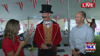 Jesse Bridges and Scott Boardman chat about their local United Way kick-off event