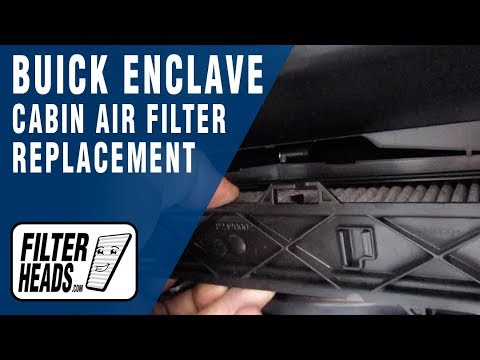 How to Replace Cabin Air Filter 2014 Buick Enclave
