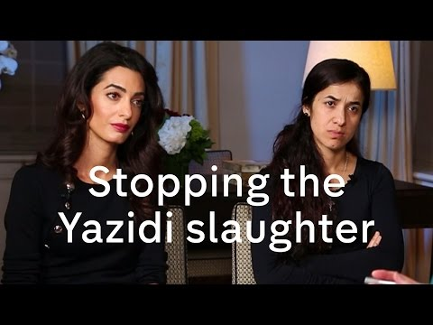 Nadia Murad and Amal Clooney interview on Yazidis, President Assad and migration crisis