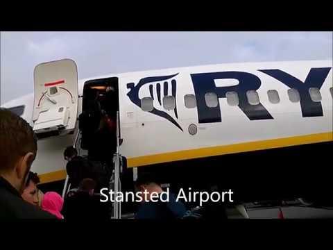 Stansted Airport , Лондон , выезд в город по маршруту А 7.