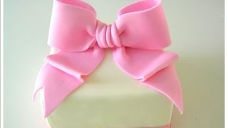 Tutoria fiocco in pasta di zucchero , How to Make a Fondant Bow cake decorating