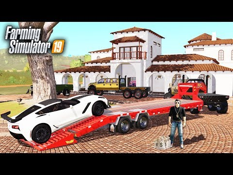FS19- BILLIONAIRE SERIES- BUYING MY FRIEND A NEW CORVETTE & MANSION