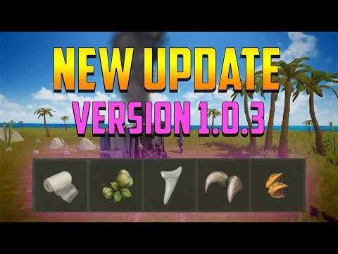 NEW UPDATE VERSION 1.0.3  CRASHED CAR + HEVEA FRUIT + NEW ITEMS  |  JURASSIC SURVIVAL