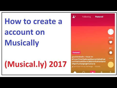 how to create a account on musically