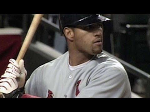 Pujols hits his first Major League home run