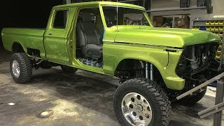 1970 Ford F250 Super Duty Cummins Turbo Diesel Crew Cab Lifted 4x4 Off-Road Truck Build Project