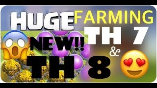 TH7 AND TH 8 FARMING | CLASH OF CLANS | FARMING GUIDE