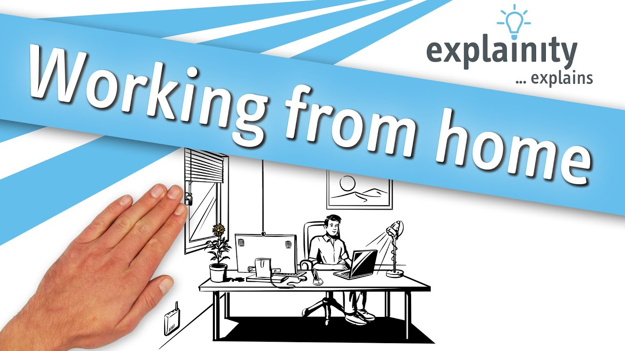 Working from home (explainity® explainer video) | #stayhome