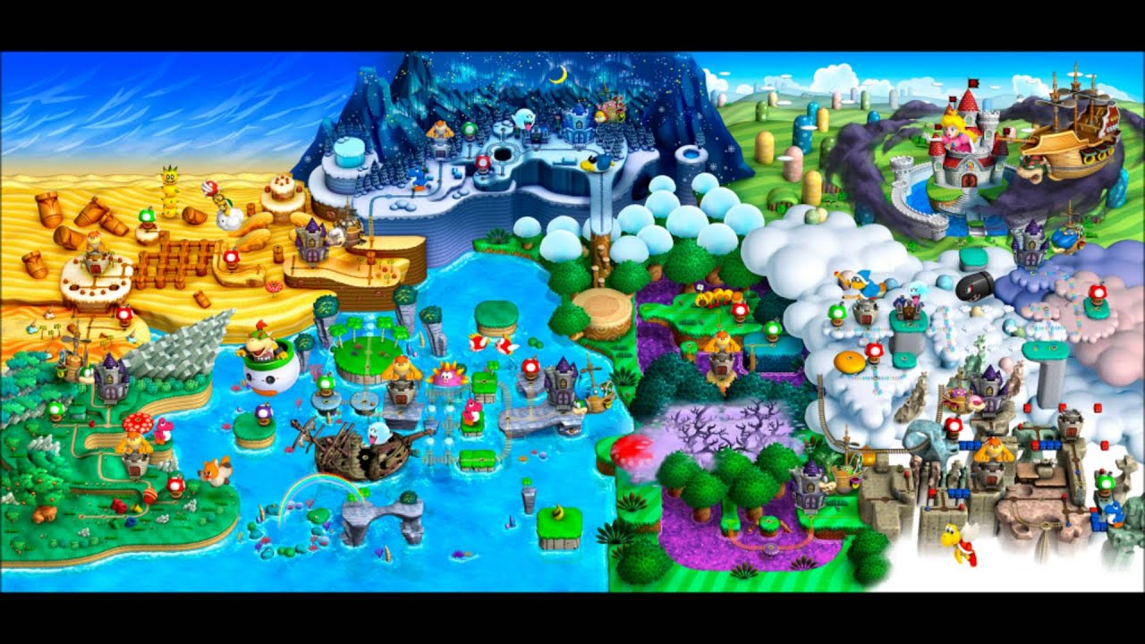 New super mario bros u wiiu world map ost castello di peach new super mario bros u wiiu world map ost castello di peach peachs castle world 8 gumiabroncs Image collections