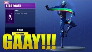 *NEW* STAR POWER EMOTE SHOWCASED WITH SKINS !! Fortnite Battle Royale