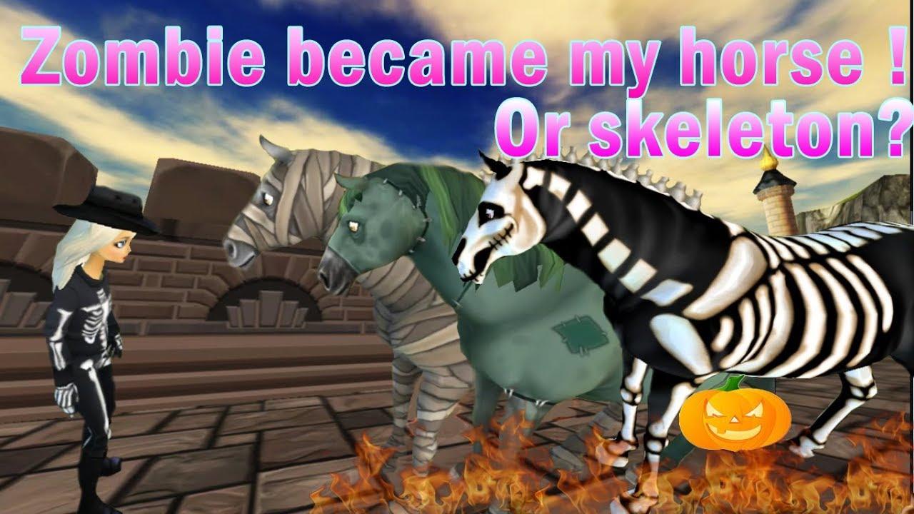 zombie skeleton horse ! happy halloween 2017 - star stable online