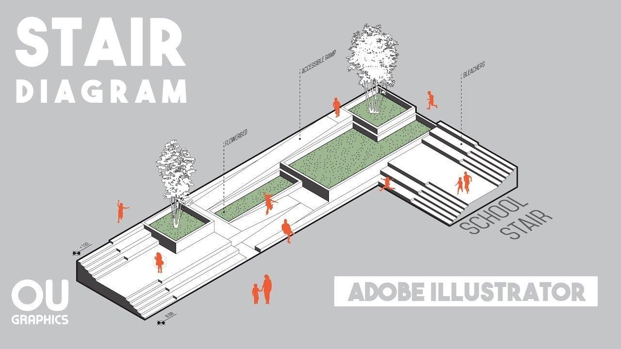 Axonometric Diagram in Adobe Illustrator  YouTube