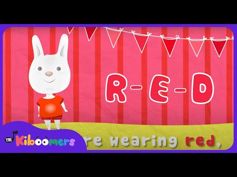 What Color Are You Wearing | Color Song | Colors Song for Kids | The Kiboomers