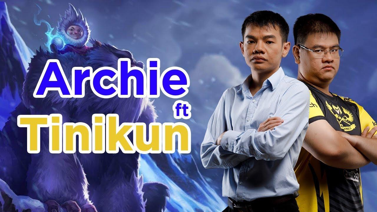 Archie cầm Nunu cùng HLV Tinikun chơi chung với fan thông qua nền tảng Huboo [GAM Esports Highlight]