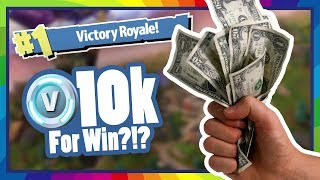 GIVING AWAY 10K V-BUCKS FOR A VICTORY ROYALE!! Fortnite Battle Royale