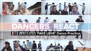 Dancers React to BTS (방탄소년단) 'FAKE LOVE' Dance Practice | Project One