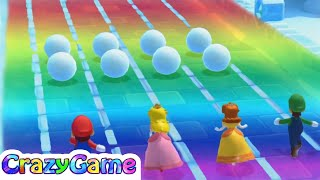 Mario Party 10 - Ice Slide, You Slide w/ other Minigames Gameplay