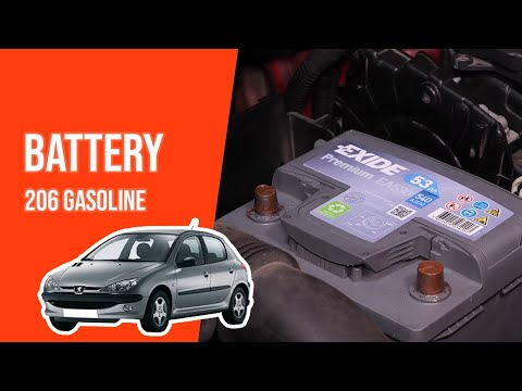 How to replace the car battery PEUGEOT 206 1.4i 🔋