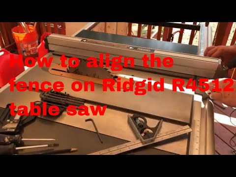 Ep 16 Table Saw Fence Alignment For Ridgid R4512
