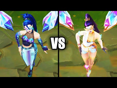 KDA ALL OUT Kaisa vs Prestige KDA ALL OUT Kaisa Skins Comparison (League of Legends)