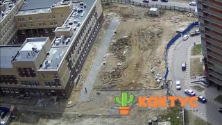 Мурино, падение крыши спортзала в строящейся школе. 7 мая 2017г.