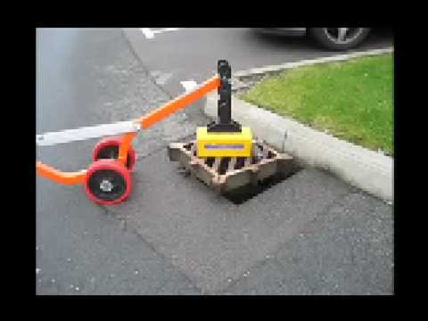 Magnetic Manhole Lifter Lifting Storm Gratings Youtube