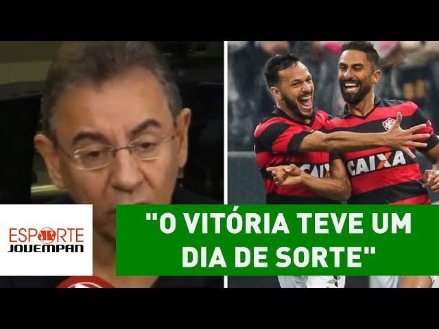 """""""O Vitória teve um dia de sorte"""", polemiza Flavio Prado"""