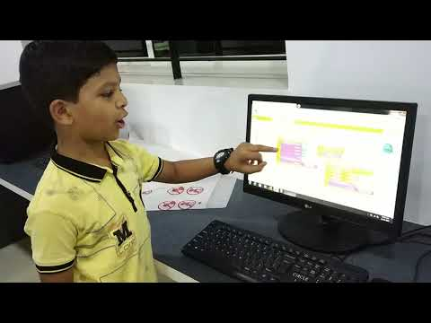 App creation by 4th Grade kids - ROBOTICS BOOT CAMP @ WISDOM ELEMENTARY SCHOOL, GANGAVATHI