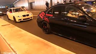 THE LOUDEST 2019 Mercedes C63S AMG w/ STRAIGHT PIPES in Monaco | CRAZY ACCELERATIONS + REVS + POLICE