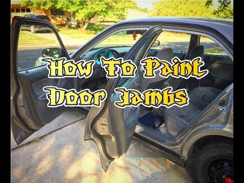 How to spray paint door jambs cheap and effective.